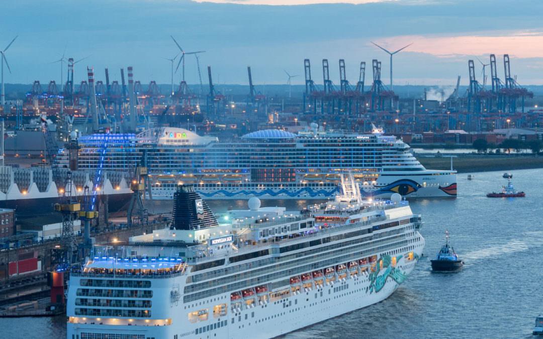 Schiffe gucken, Schiffen winken 2019
